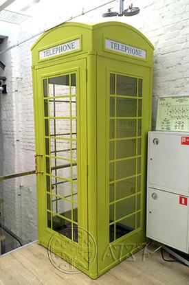 Английская телефонная будка - экстерьерная